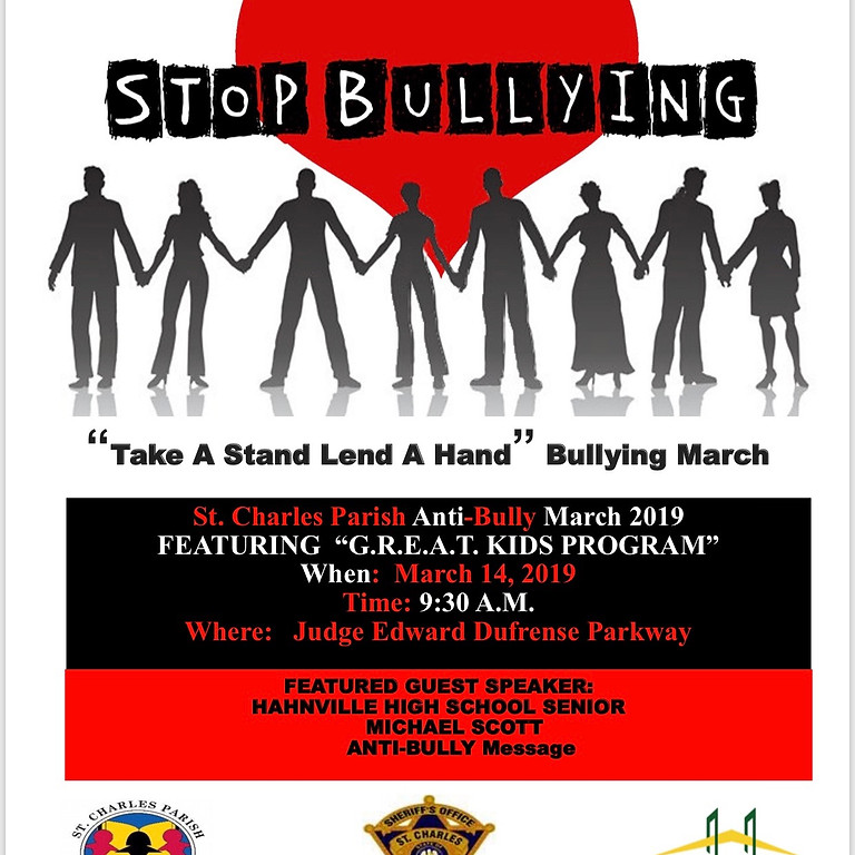 """""""Take a Stand Lend a Hand"""" Bullying March"""