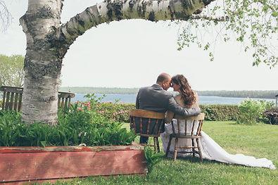 wedding day on manitouln islad