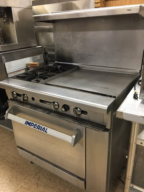 Imperial 2 Burner with Flat-top Oven