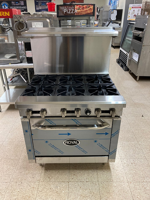 Royal Range (CBR-6) 6 Burner Stove with Convection Oven