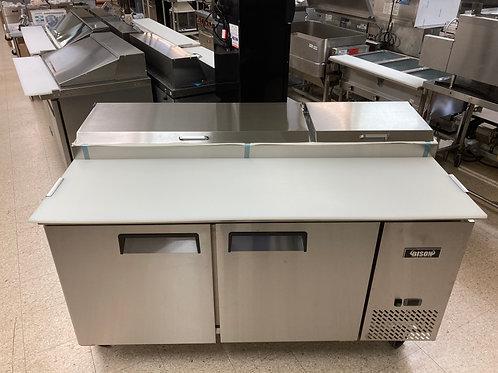 Bison 67 Inch Pizza Prep Cooler/Refrigerator (BPT-67)
