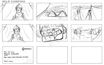 Camping Storyboard