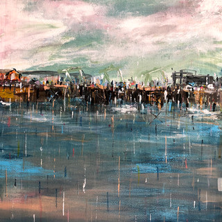 Barrage 2 - Acrylic and Chalk on canvas