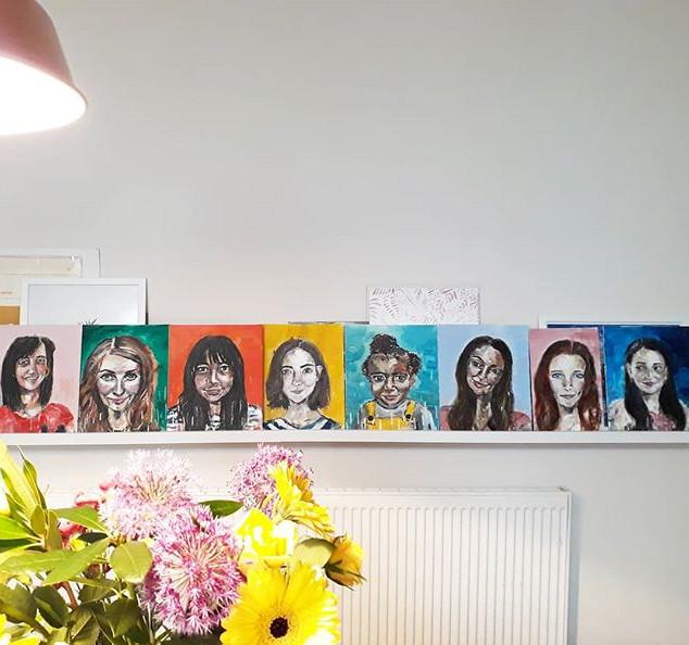 G I R L S / M E R C H E D series of portraits