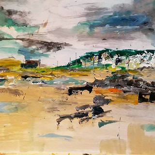 Ogmore - Acrylic and pen on paper