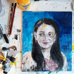 Self Portrait - acrylic on canvas