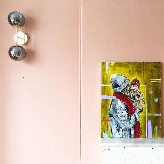 Chloe and Ziggy - Acrylic on canvas