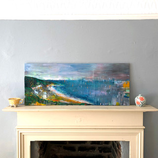 Southerndown - Acrylic and chalk on canvas