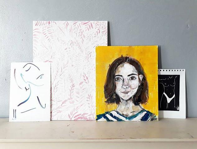 'Elen' in situ - acrylic on canvas