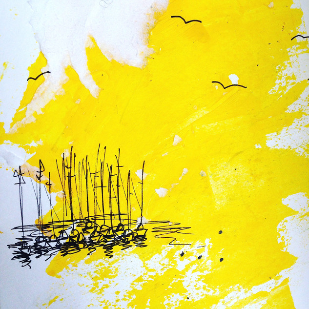 Yellow Sails Print