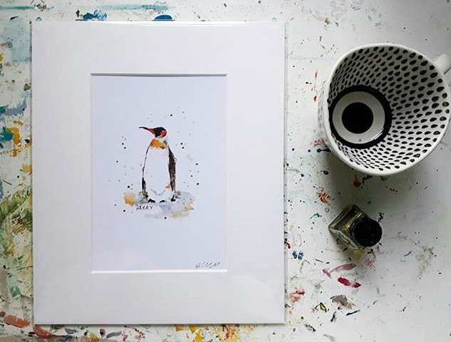 Penguin print - personalised