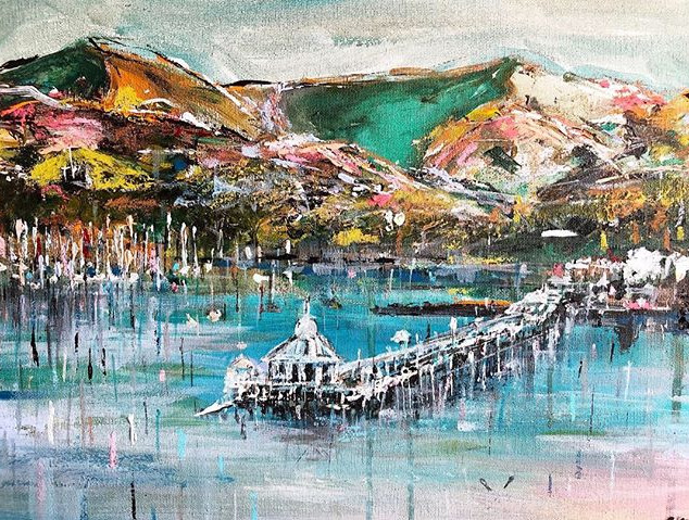 Bangor Pier Commission - Acrylic and chalk on canvas