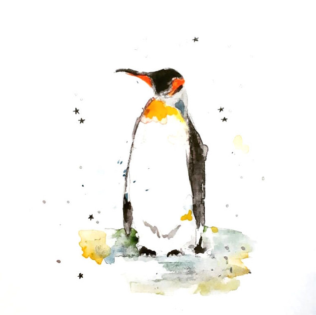 Penguin Watercolour