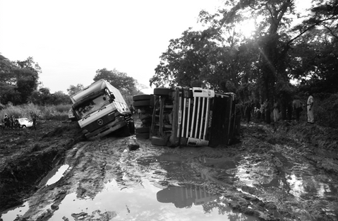 Challenges of travelling by road during the rainy season