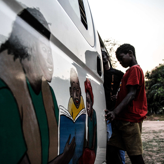 Mobile health clinic for street kids