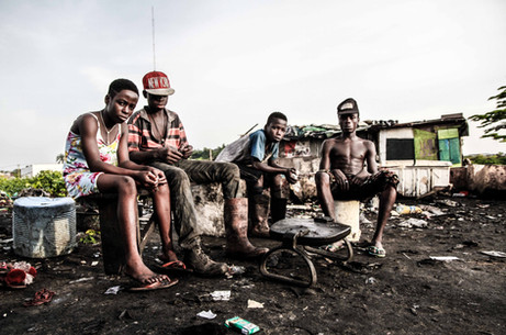 Child 'witches' forced to live on a garbage dump on the outskirts of Calabar