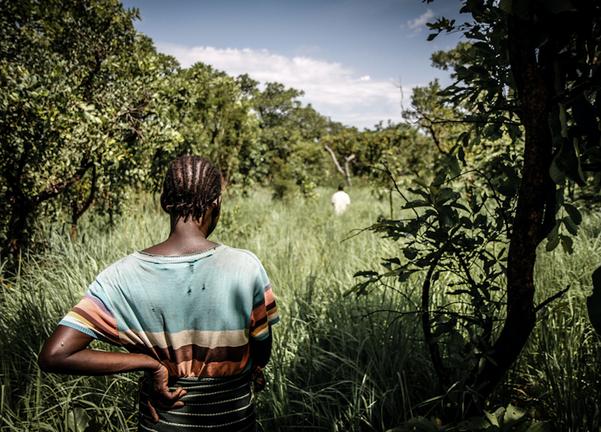 Female former child soldier