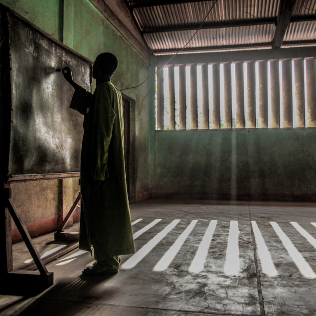 Teacher in Muslim enclave in Carnot
