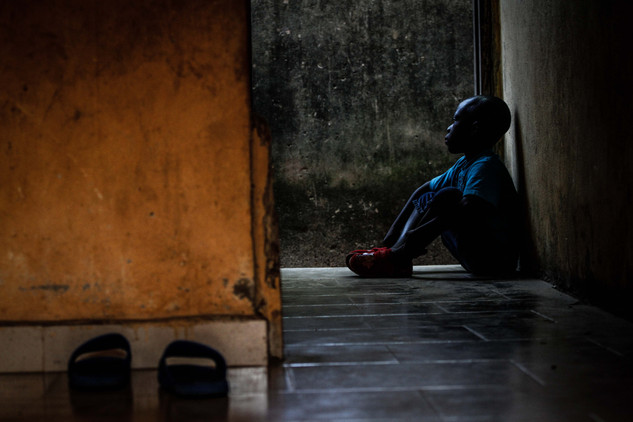 Young boy living in safe house in Eket