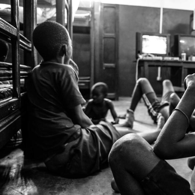 Street kids at safe house