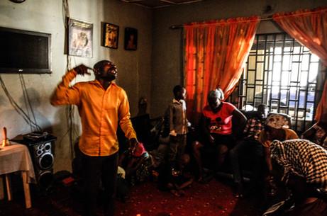 Pastor leading a Calabar exorcism
