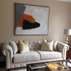 Couch with red painting