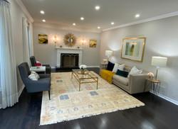Gold Themed Living Room
