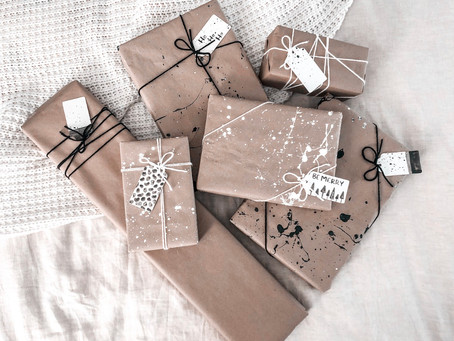 DIY: Eco-Friendly & Minimal Wrapping Paper