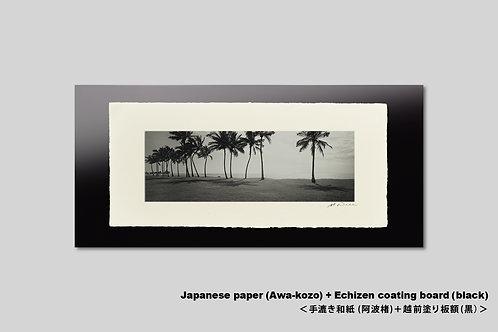 手漉き和紙,ハワイ,写真,風景,ヤシの木,インテリアフォト,ビーチ,新築祝い,プレゼント,おしゃれ,アートフレーム,壁掛け,額装,アートポスター,壁飾り