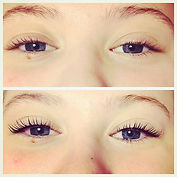 This lovely girl has gorgeous lashes, an