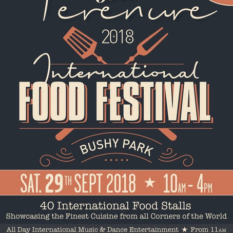 join us at the international food festival in bushy park sep 29th.