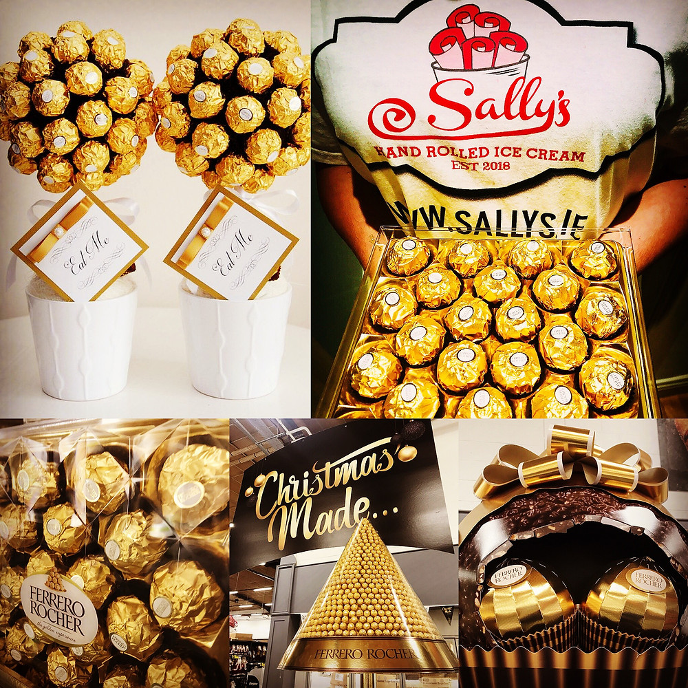 Ice Cream Rolls - Ferrero Rocher - Dublin - Sally's