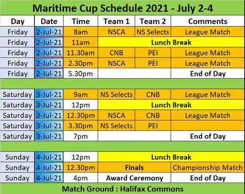 Maritime Schedule - 2021