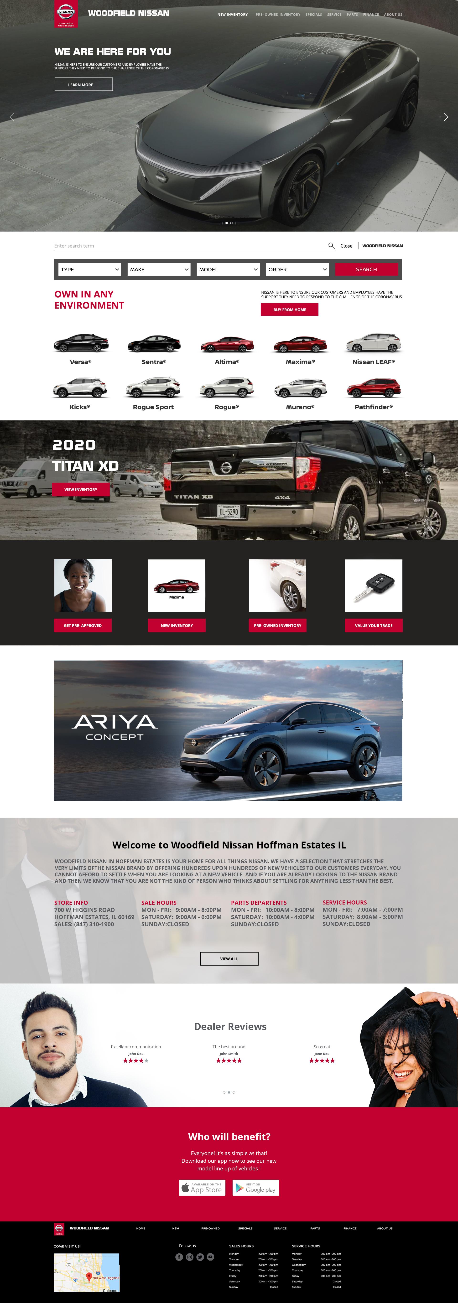 Nissan Landing page