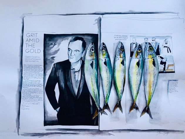 6 Fishies - Tarantino Fishies  SOLD