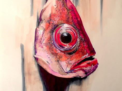 Fish Head. Selfportrait