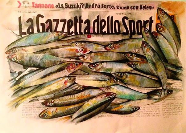 Tutto il rosa della vita. Fish and sport.