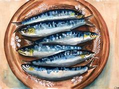 Populonia, Sardines in Tuscany