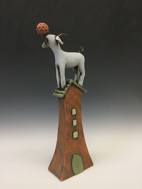 Goat on House with Ball 6