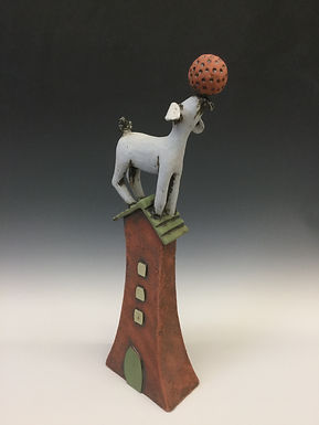 Goat on House with Ball 7