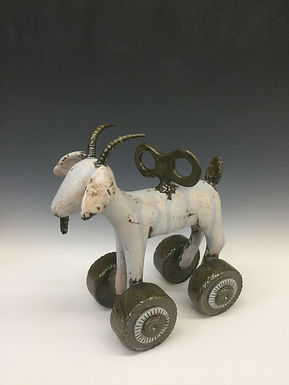 Goat on Wheels with Key