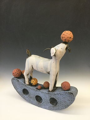 Rocking Goat with Balls