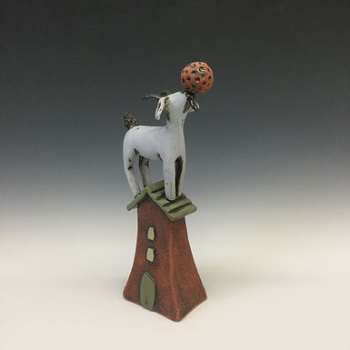 Goat on House with Ball 4