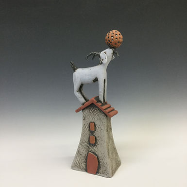 Goat on House with Ball 3