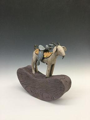 Rocking Goat with Saddle