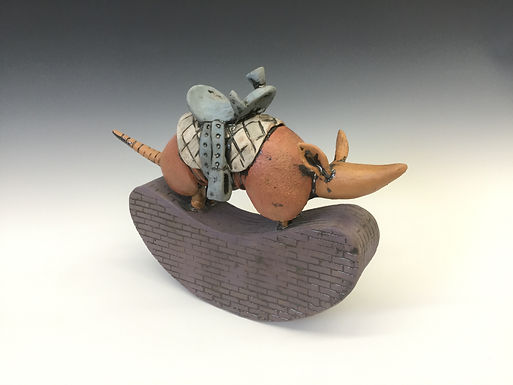 Rocking Armadillo with Saddle