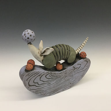 Rocking Armadillo with Balls 2