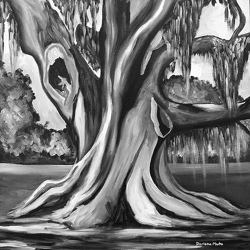 Cellon Live Oak Tree Painting