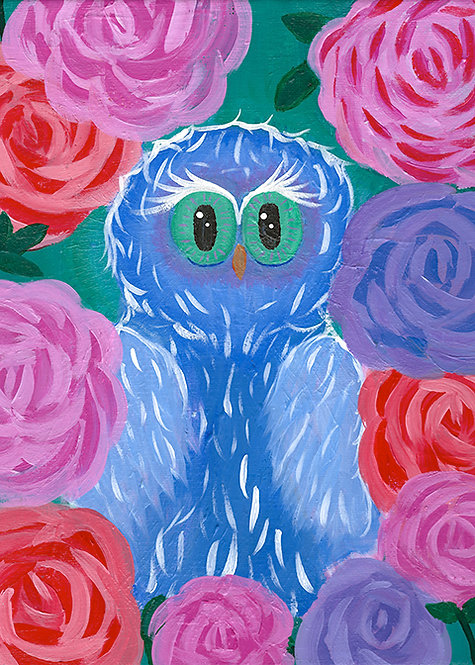 Ken Owl Painting