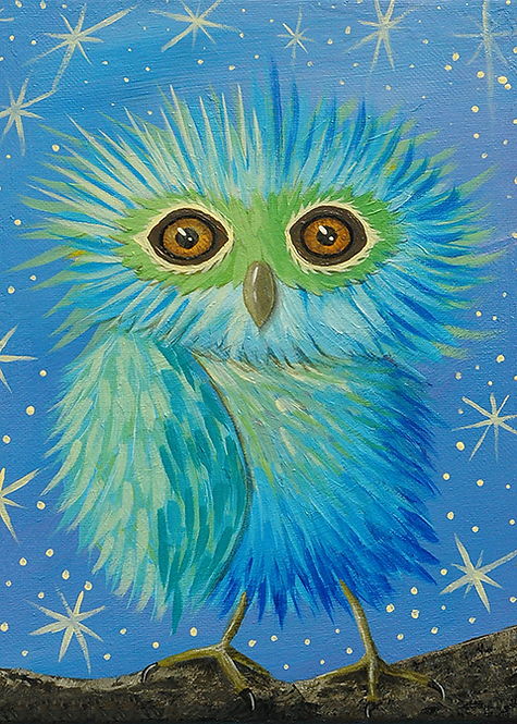 5x7 Galileo Owl Greeting Card with Envelope
